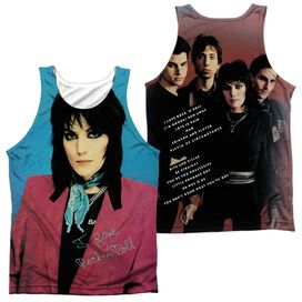 Joan Jett I Love Rock And Roll (Front Back Print) Adult Poly Tank Top