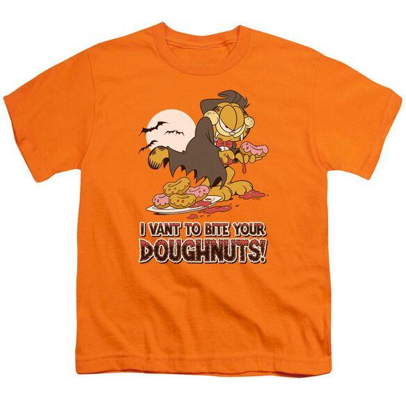 Garfield I Vant Doughnuts Short Sleeve Youth T-Shirt