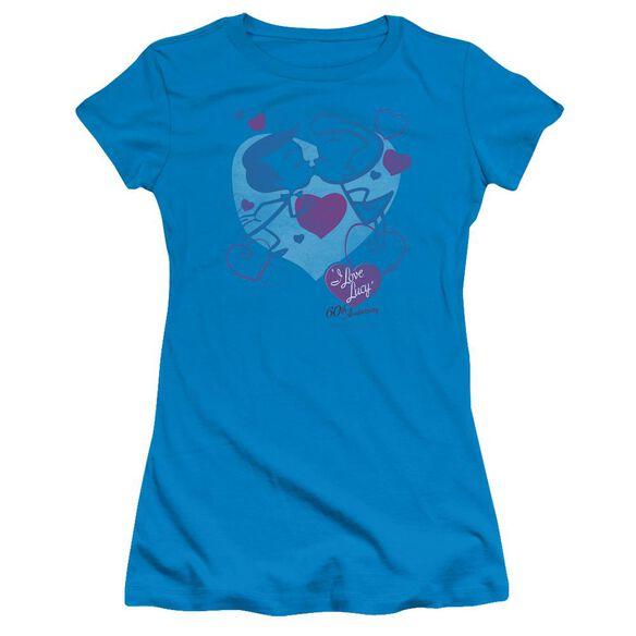 Lucy Cartoon Kiss Short Sleeve Junior Sheer T-Shirt
