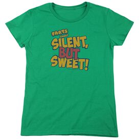 Farts Candy Silent But Sweet Short Sleeve Womens Tee Kelly T-Shirt