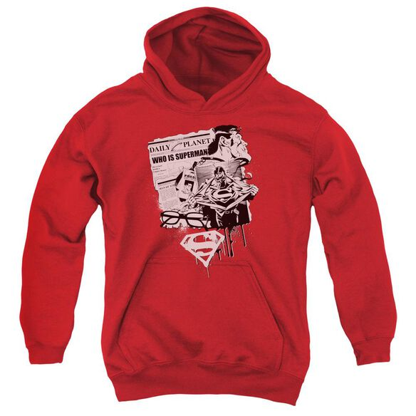 Superman Identity Youth Pull Over Hoodie