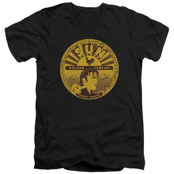 Sun Elvis Full Sun Label Short Sleeve Adult V Neck T-Shirt