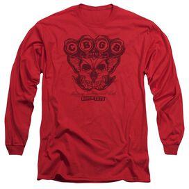 Cbgb Moth Skull Long Sleeve Adult T-Shirt