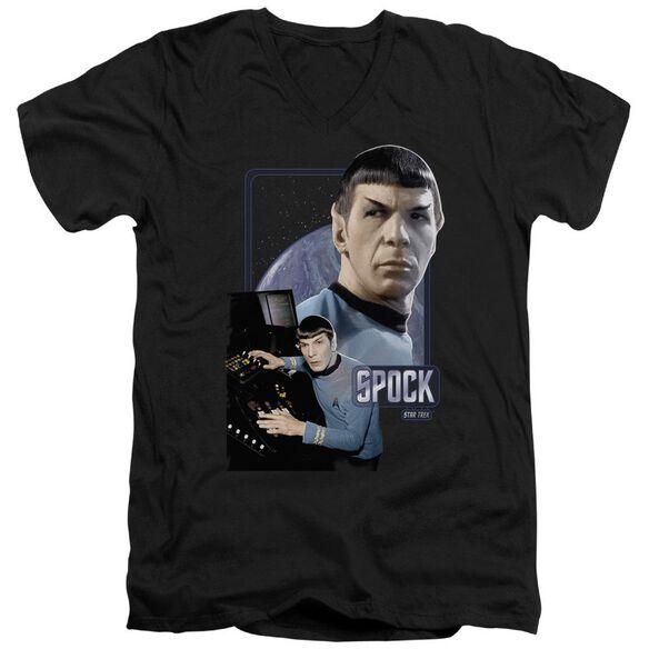 Star Trek Spock Short Sleeve Adult V Neck T-Shirt