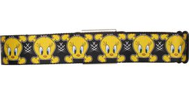 Looney Tunes Tweety Bird Crossbones Black Seatbelt Mesh Belt