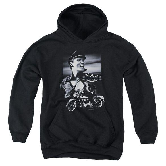 Elvis Motorcycle Youth Pull Over Hoodie