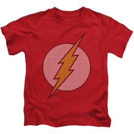 Dc Flash Little Logos Short Sleeve Juvenile Red Md T-Shirt