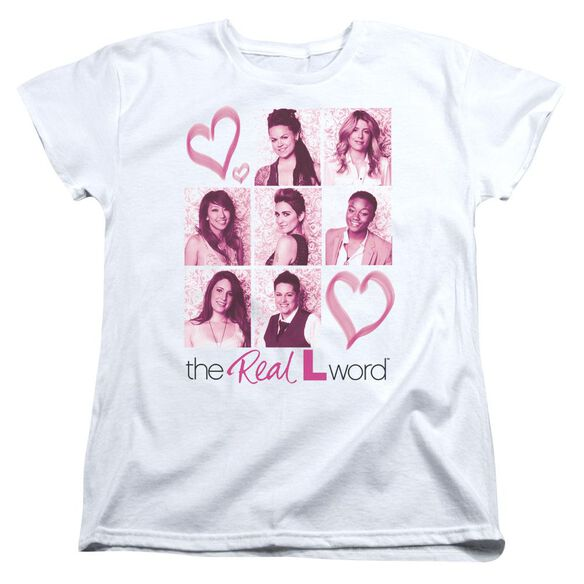 Real L Word Hearts Short Sleeve Women's Tee T-Shirt