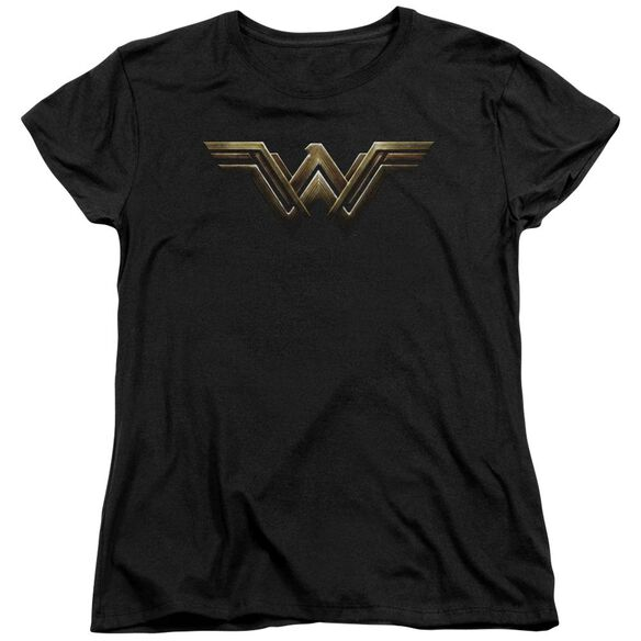 Justice League Movie Wonder Woman Logo Short Sleeve Womens Tee T-Shirt