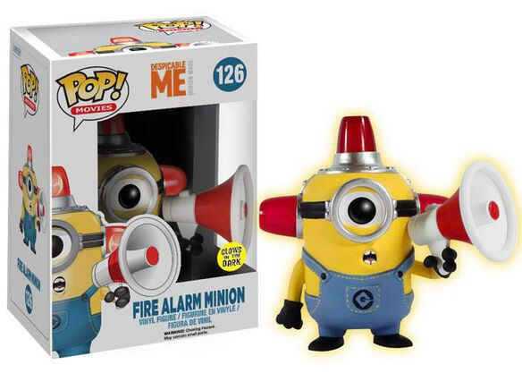 Pop Exclusive Fire Glow Alarm Minion