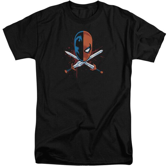 Jla Crossed Swords Short Sleeve Adult Tall T-Shirt