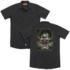 Batman Aa Split Lip(Back Print) Adult Work Shirt
