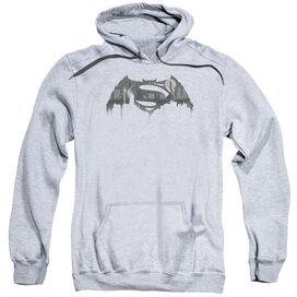 Batman V Superman Cityscape Logo Adult Pull Over Hoodie Athletic
