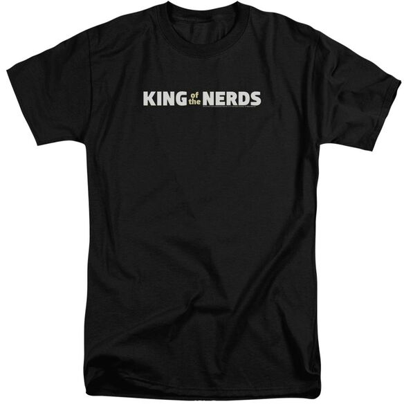 King Of The Nerds Horizontal Logo Short Sleeve Adult Tall T-Shirt