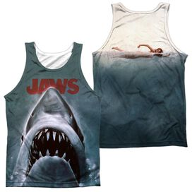 Jaws Poster - Adult 100% Poly Tank Top