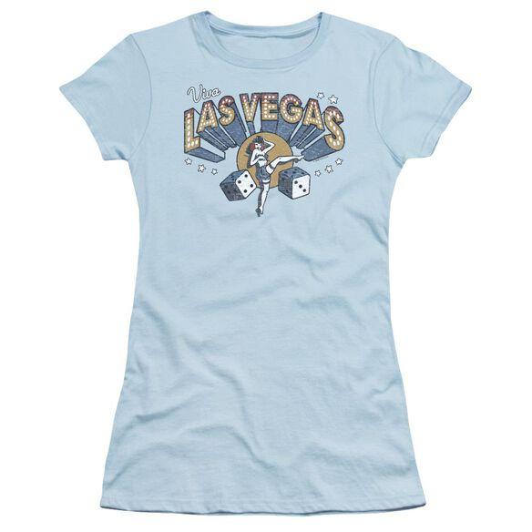 Las Vegas Short Sleeve Junior Sheer Light T-Shirt