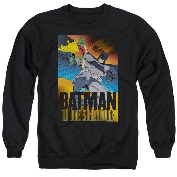 Batman Dk Returns - Adult Crewneck Sweatshirt - Black
