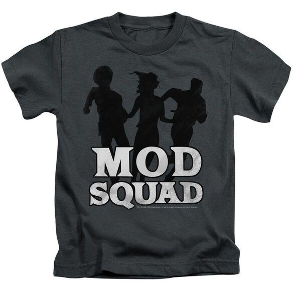 Mod Squad Mod Squad Run Simple Short Sleeve Juvenile Charcoal T-Shirt