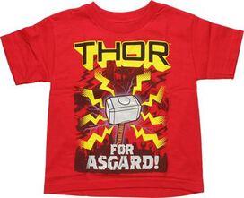 Thor For Asgard Juvenile T-Shirt
