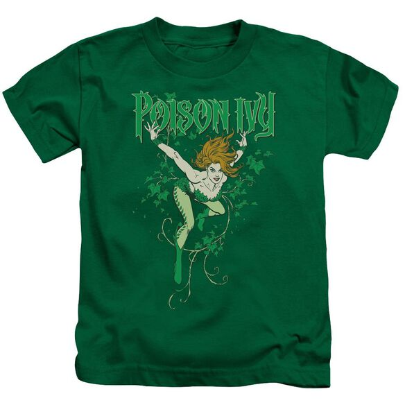 Dc Poison Ivy Short Sleeve Juvenile Kelly Green T-Shirt