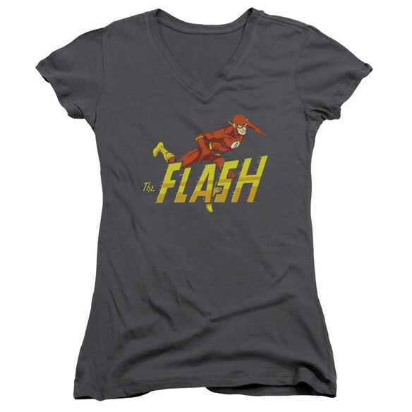 Dc 8 Bit Flash Junior V Neck T-Shirt