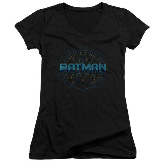 Batman Bat Tech Logo Junior V Neck T-Shirt