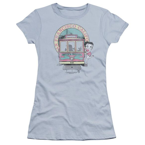 Betty Boop Betty's Trolley Premium Bella Junior Sheer Jersey Light