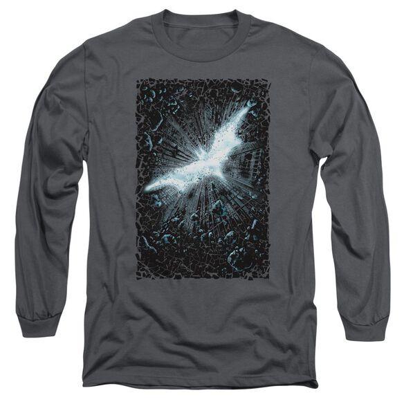 Dark Knight Rises Crumble Poster Long Sleeve Adult T-Shirt