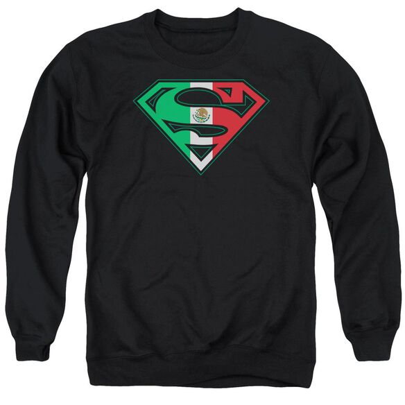 Superman Mexican Flag Shield Adult Crewneck Sweatshirt