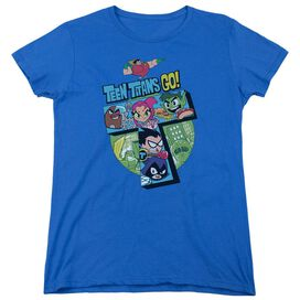 Teen Titans Go T Short Sleeve Womens Tee Royal T-Shirt