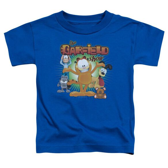 Garfield The Garfield Show Short Sleeve Toddler Tee Royal Blue Sm T-Shirt