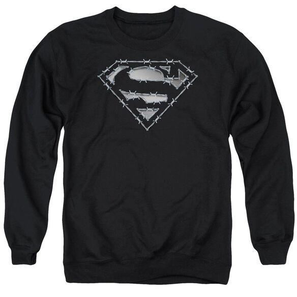 Superman Barbed Wire Adult Crewneck Sweatshirt