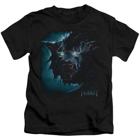 The Hobbit Warg Short Sleeve Juvenile Black T-Shirt