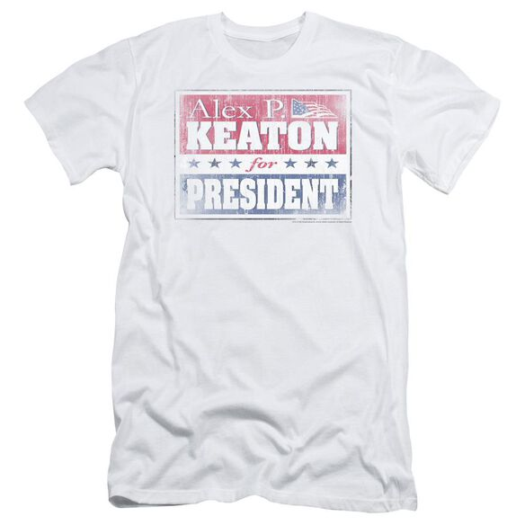 FAMILY TIES ALEX FOR PRESIDENT - S/S ADULT 30/1 - WHITE T-Shirt