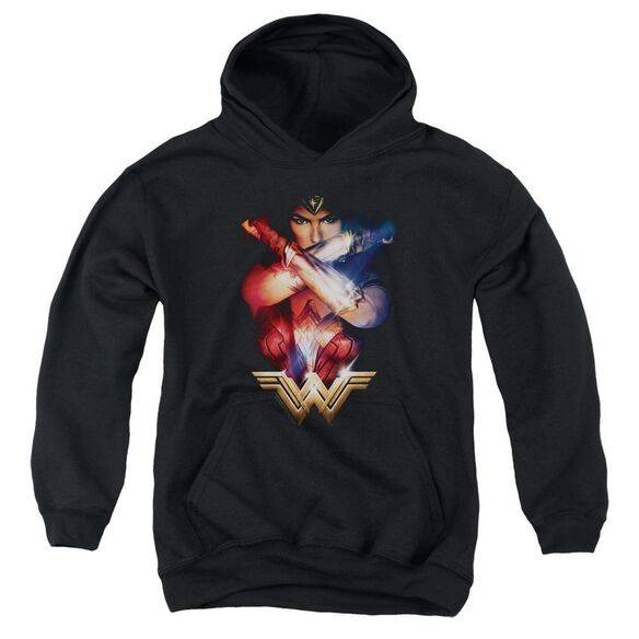 Wonder Woman Movie Arms Crossed Youth Pull Over Hoodie