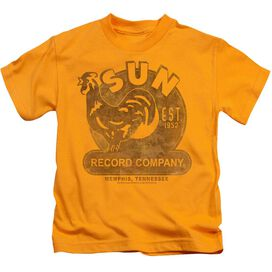 Sun Sun Record Short Sleeve Juvenile Gold Md T-Shirt