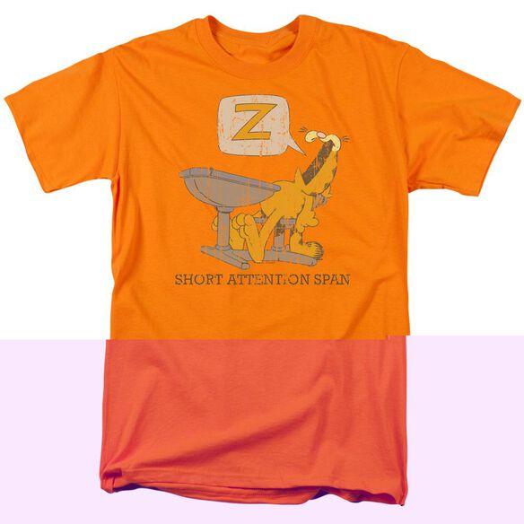 GARFIELD ATTENTION SPAN - S/S ADULT 18/1 - ORANGE T-Shirt