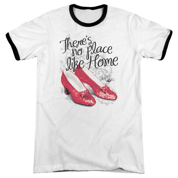 Wizard Of Oz Ruby Slippers Adult Ringer White Black