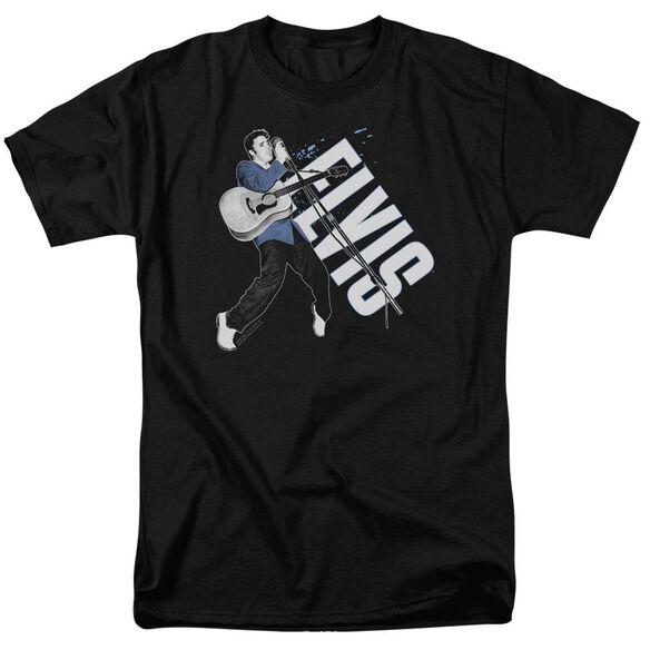 ELVIS PRESLEY ON HIS TOES - S/S ADULT 18/1 - BLACK T-Shirt