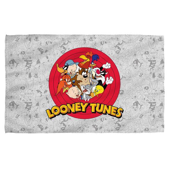 Looney Tunes Group Burst Towel White