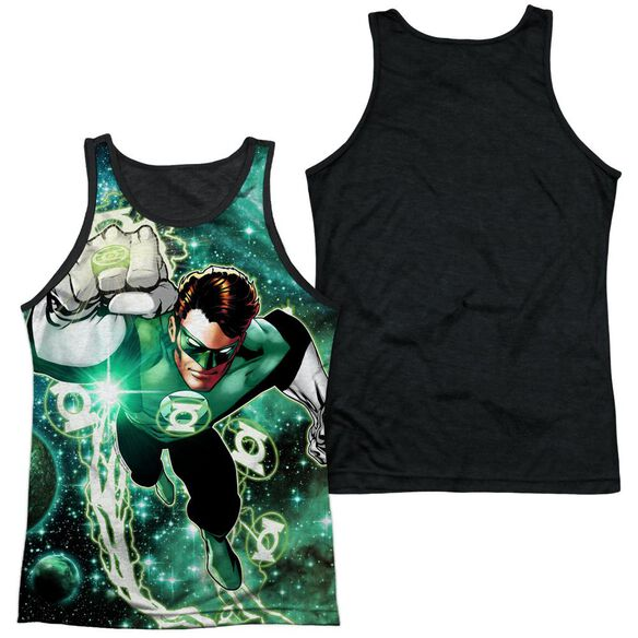 Green Lantern Galactic Hal Adult Poly Tank Top Black Back