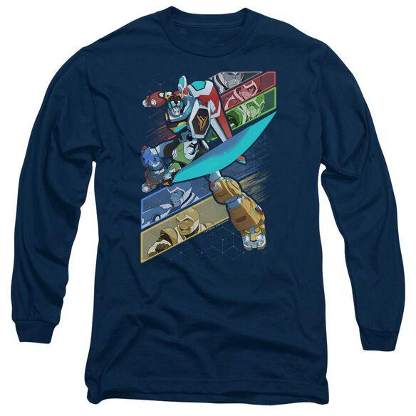 Voltron Crisscross Long Sleeve Adult T-Shirt