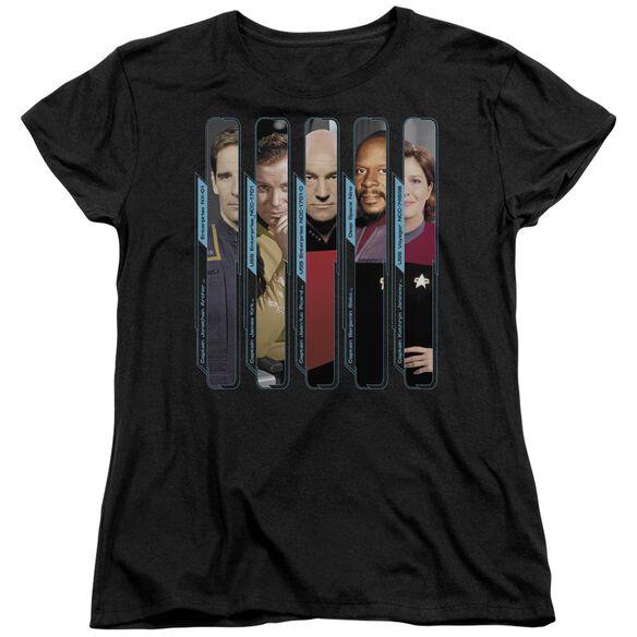 Star Trek The Captains Short Sleeve Womens Tee T-Shirt