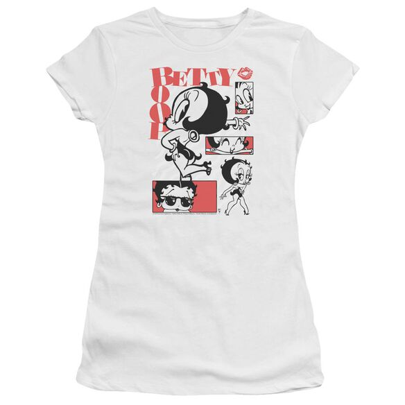 Betty Boop Stylin Snaps Short Sleeve Junior Sheer T-Shirt
