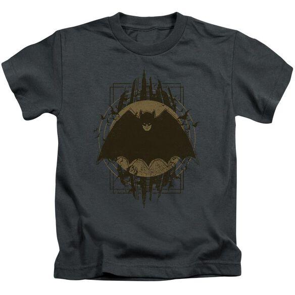 Batman Batman Crest Short Sleeve Juvenile Charcoal T-Shirt