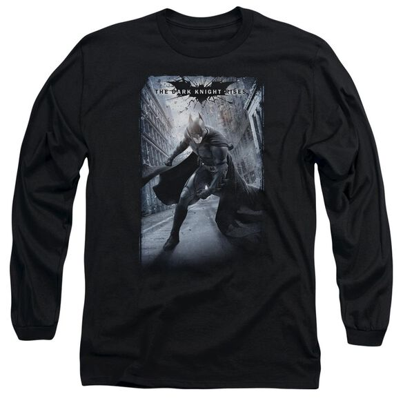 Dark Knight Rises Crumbled Poster Long Sleeve Adult T-Shirt