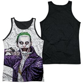 Suicide Squad Across The Throat Adult Poly Tank Top Black Back