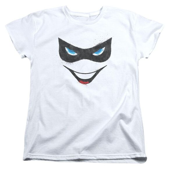 Batman Harley Face Short Sleeve Womens Tee T-Shirt