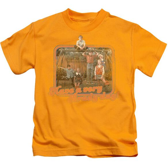 Brady Bunch Have A Very Brady Day! Short Sleeve Juvenile Gold T-Shirt