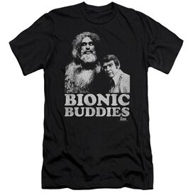 Six Million Dollar Man Bionic Buddies Short Sleeve Adult T-Shirt